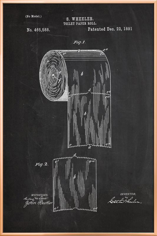 Toilet Paper Poster in Aluminium Frame