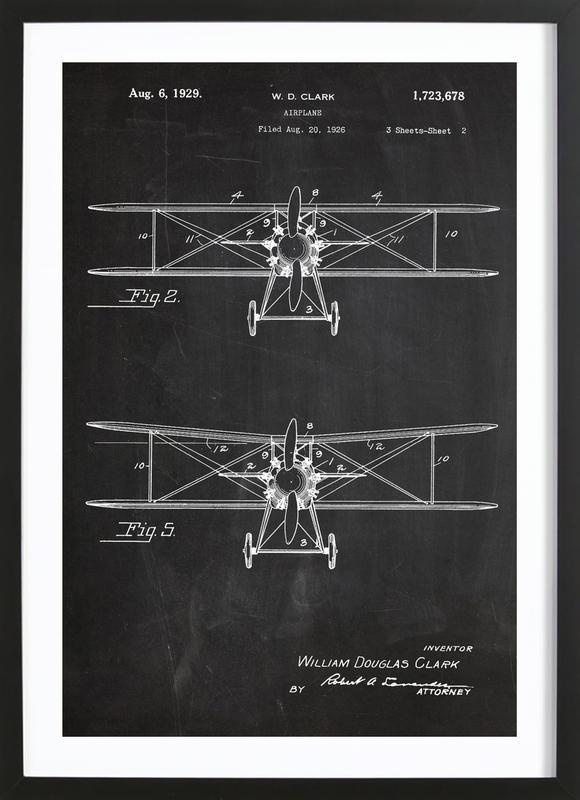 Airplane Premium Poster gerahmt