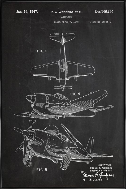 Airplane II Gerahmtes Poster