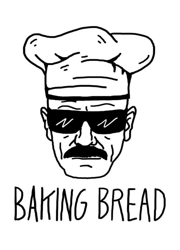Bake Bread Leinwandbild   Dekoration > Bilder und Rahmen > Bilder