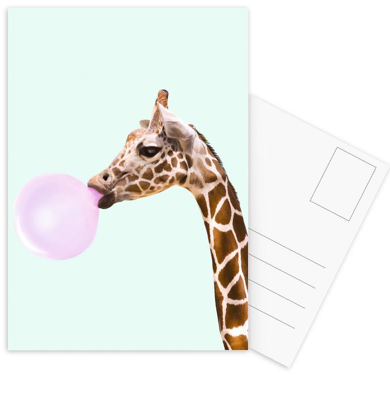 Giraffe -Postkartenset