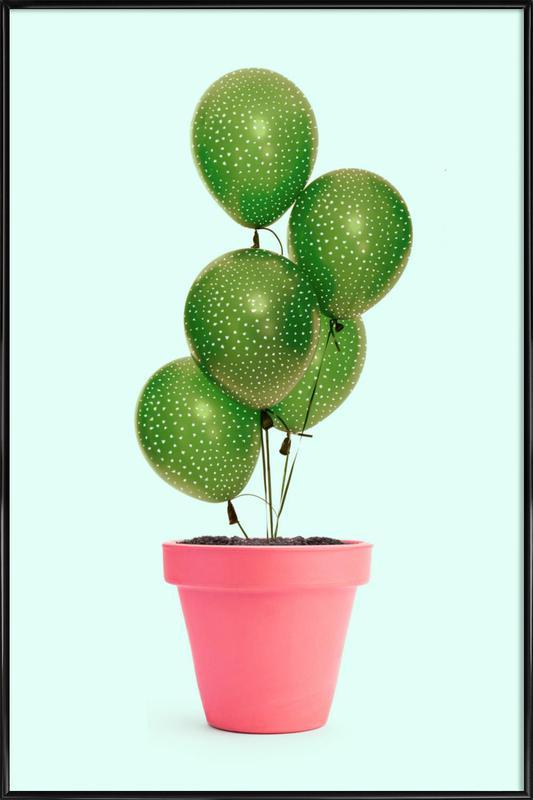 Cactus Balloon ingelijste poster