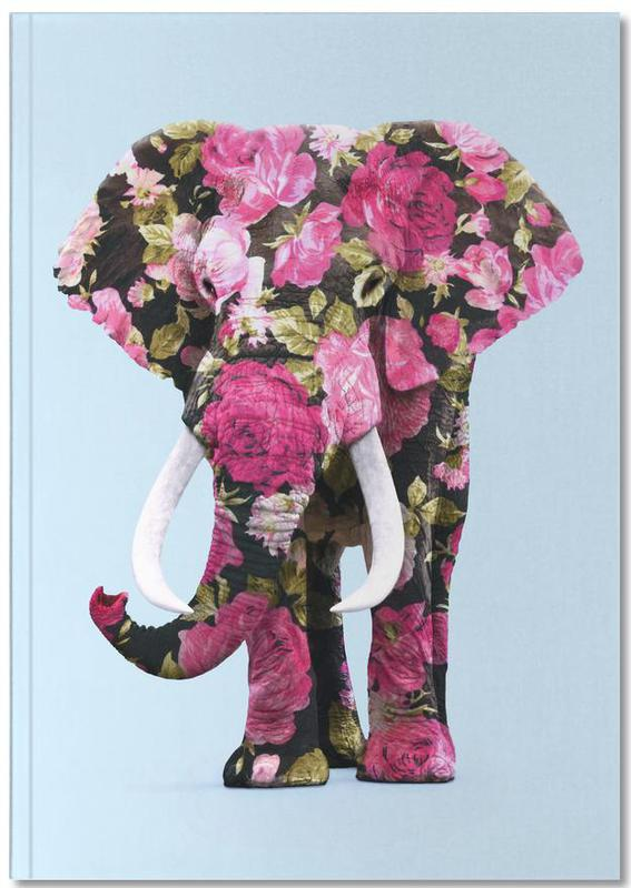 Floral Elephant Notebook