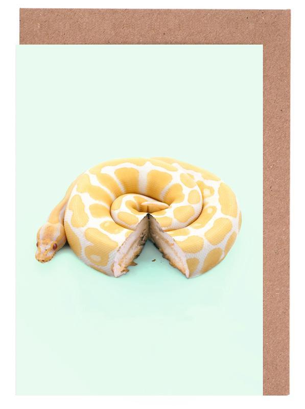 Snake Cake Greeting Card Set