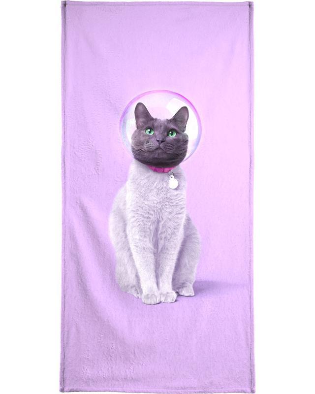 Space Cat serviette de plage