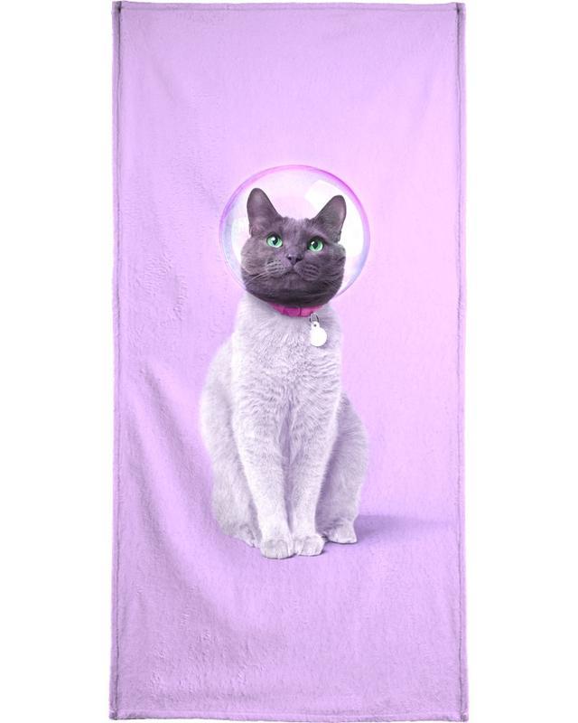 Space Cat Strandtuch | Bad > Handtücher > Saunatücher | Mehrfarbig