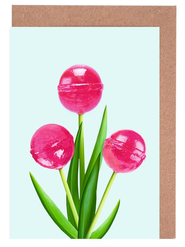 Lollipop Tulips 1 Greeting Card Set