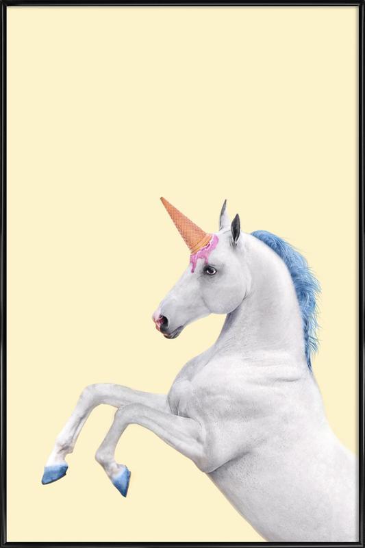 Ice Cream Unicorn Framed Poster