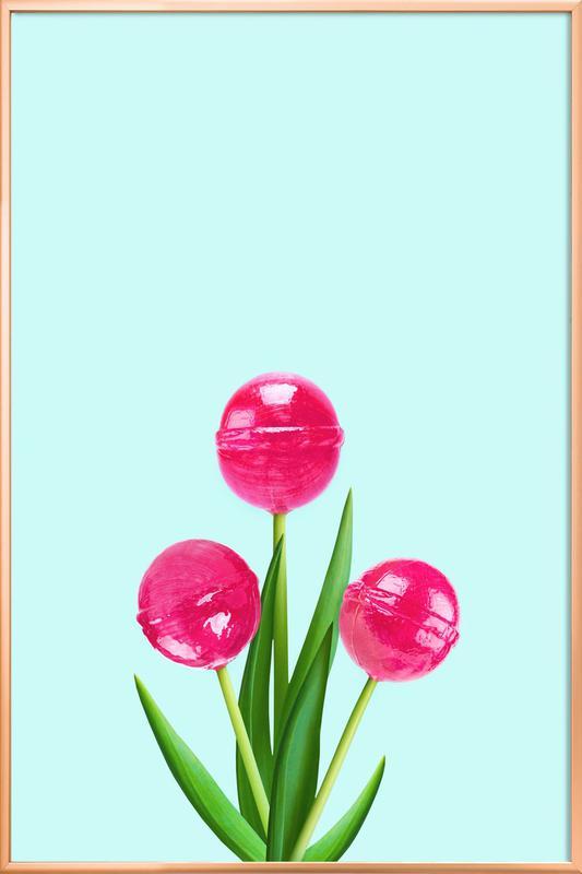 Tulipops Poster im Alurahmen | Dekoration > Bilder und Rahmen > Poster | Mehrfarbig