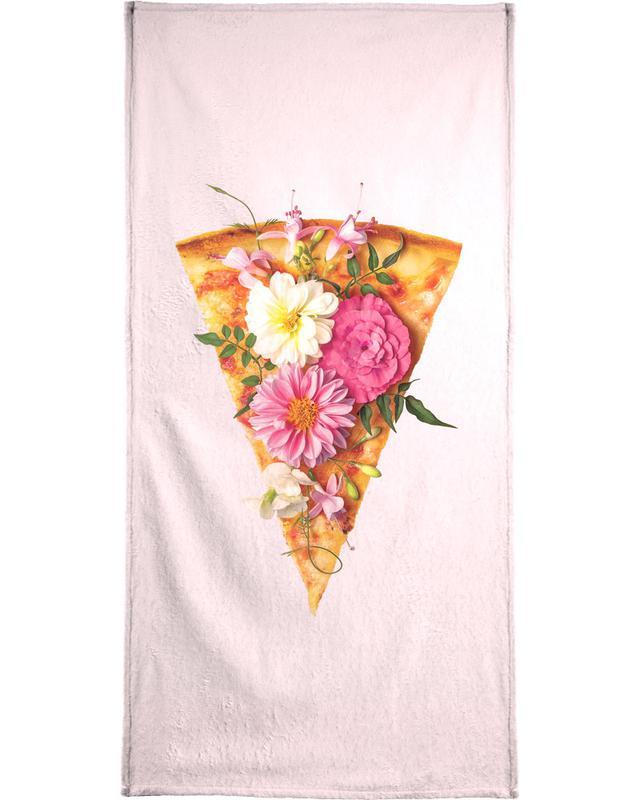 Floral Pizza serviette de plage