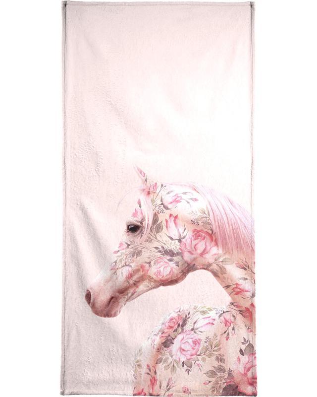 Floral Horse -Handtuch