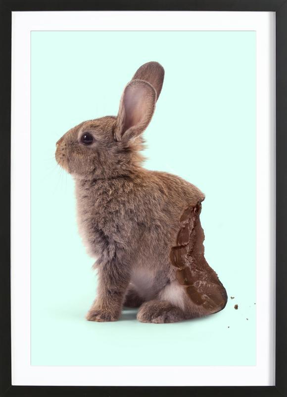 Chocolate Rabbit Premium Poster gerahmt | Dekoration > Bilder und Rahmen > Poster | Mehrfarbig