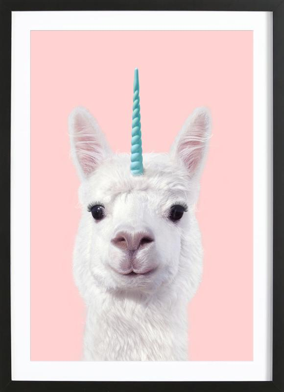 Alpaca Unicorn Framed Print