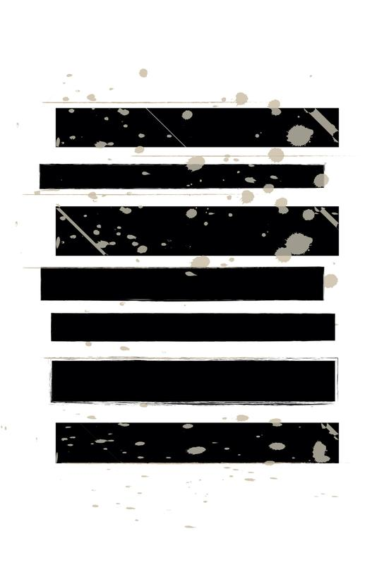 Smudged Stripes alu dibond