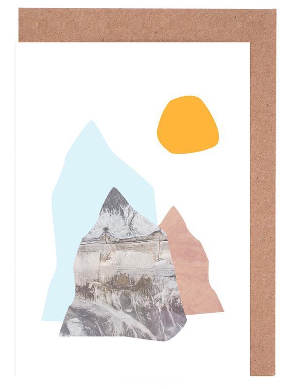 Abstract Mountains Wenskaartenset