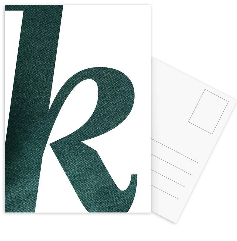 Green K Ansichtkaartenset
