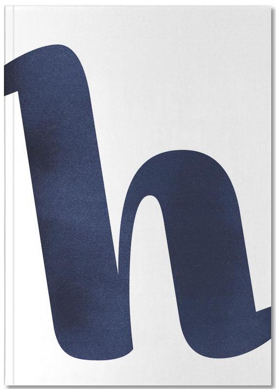 Navy H Premium notitieboekje