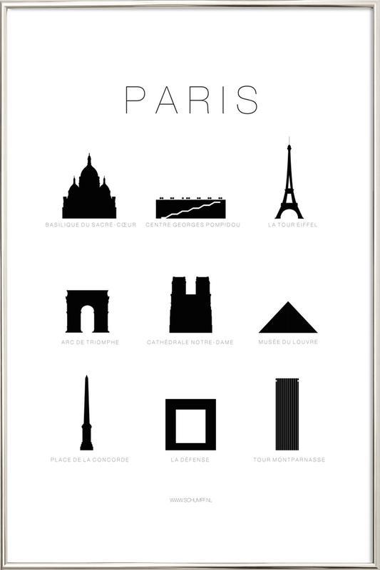 Paris Poster in Aluminium Frame