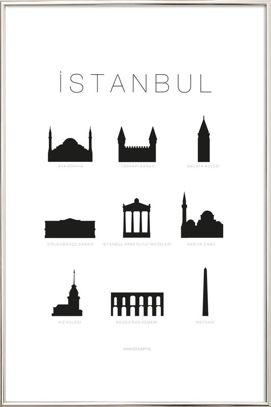 Istanbul Poster in Aluminium Frame