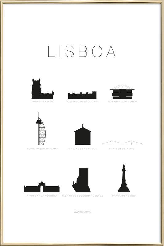 Lisboa Poster in Aluminium Frame