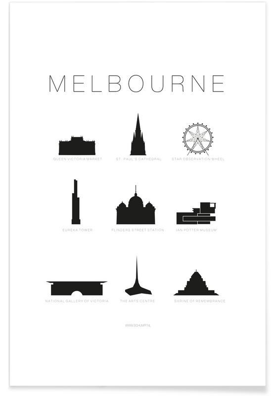 Melbourne -Poster