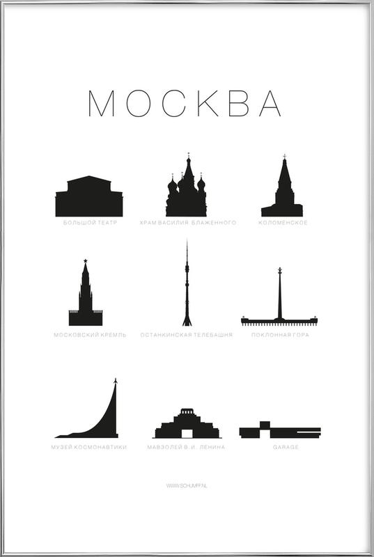 Mockba Poster in Aluminium Frame