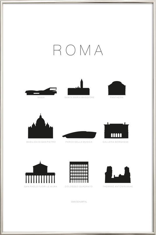 Roma Poster in Aluminium Frame