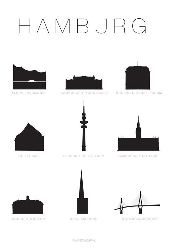 Hamburg Aluminium Print
