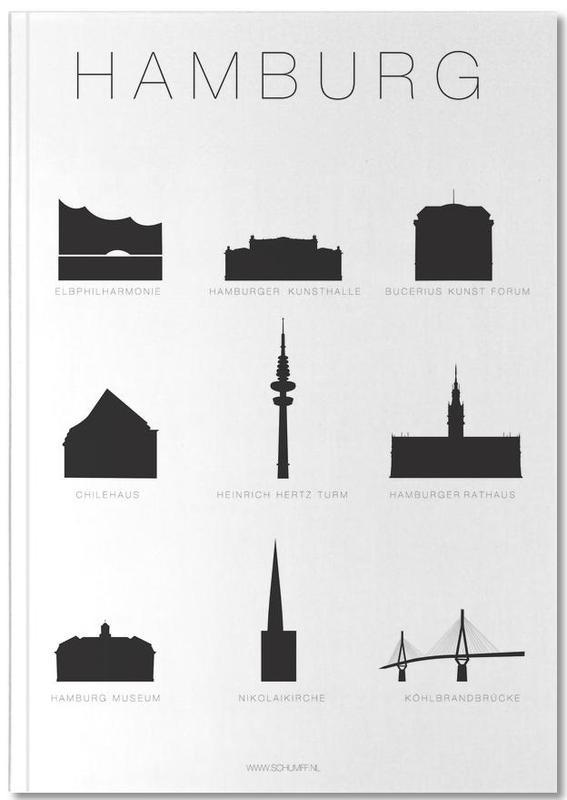 Hamburg Premium Notizbuch | Dekoration > Accessoires | Mehrfarbig | Papier