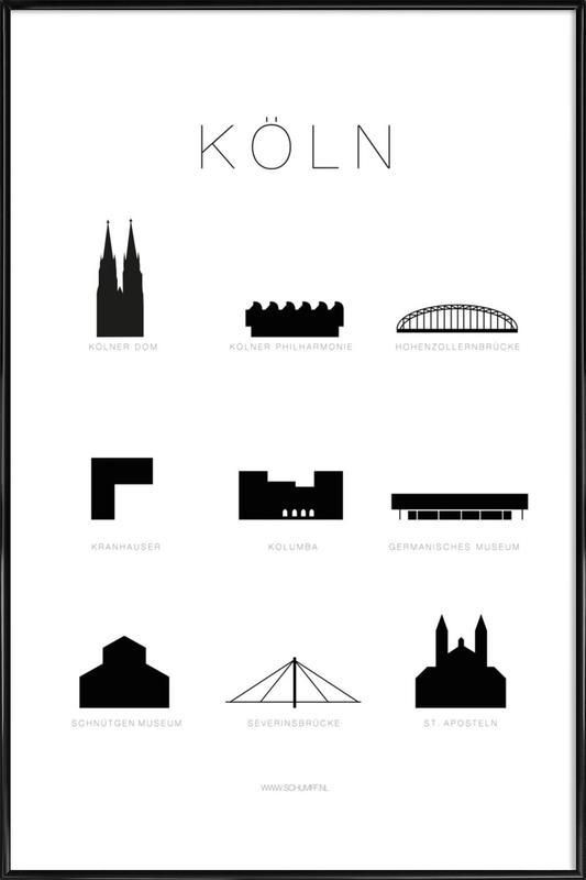 Köln Framed Poster