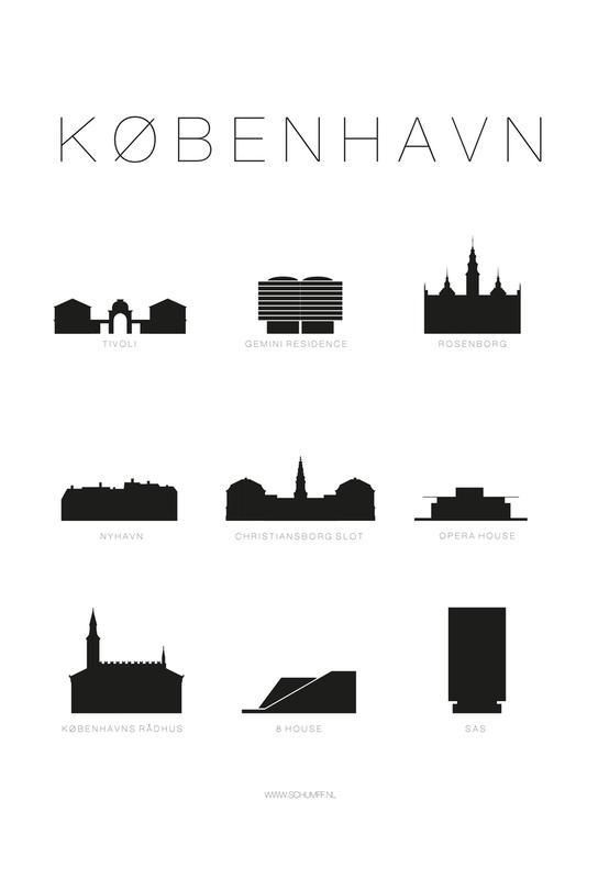 København Aluminium Print