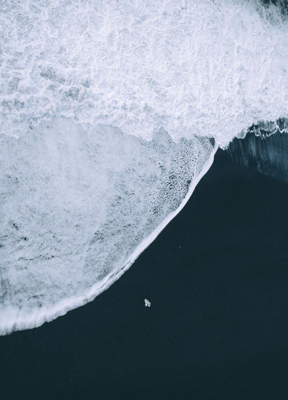 Black Beach canvas doek