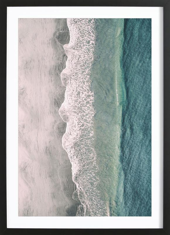 Ocean Waves 1 -Bild mit Holzrahmen