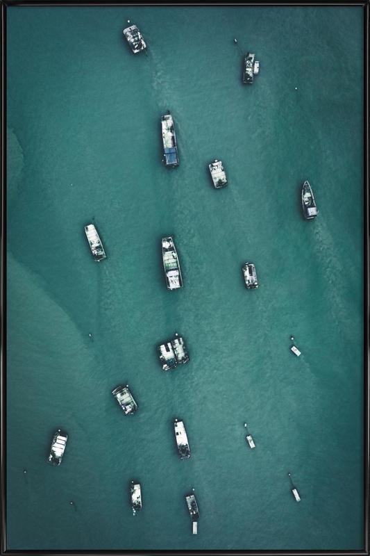 Raft Caravan Framed Poster