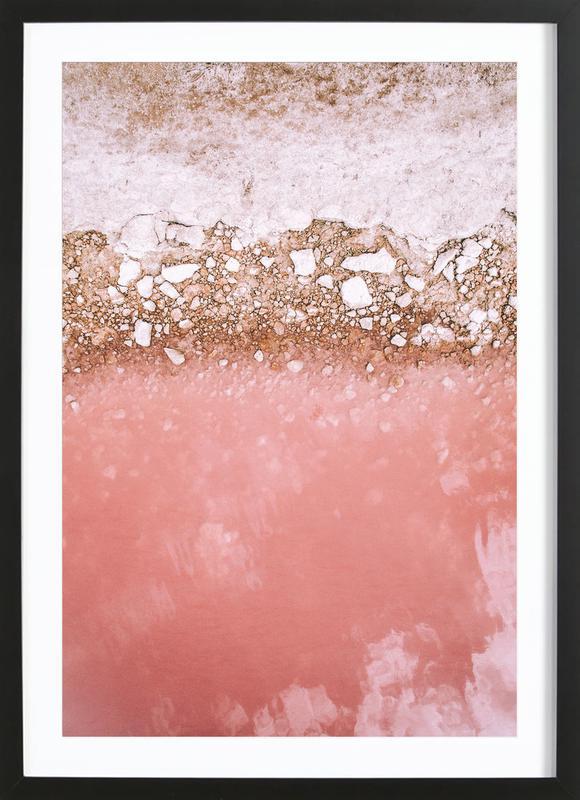 Red Lagoon -Bild mit Holzrahmen