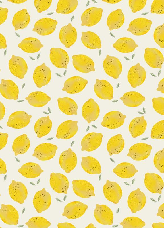 Lemon canvas doek