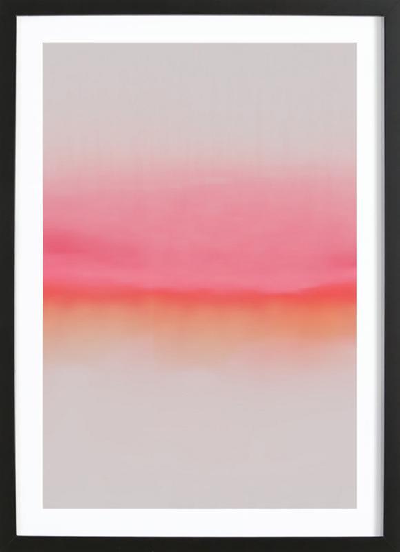 Pink Horizon -Bild mit Holzrahmen