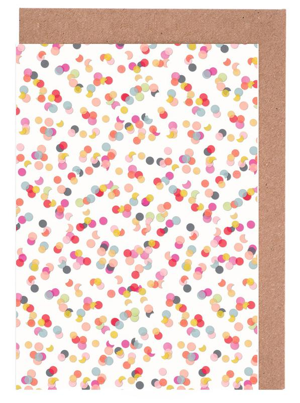 Confetti Mix Pink -Grußkarten-Set