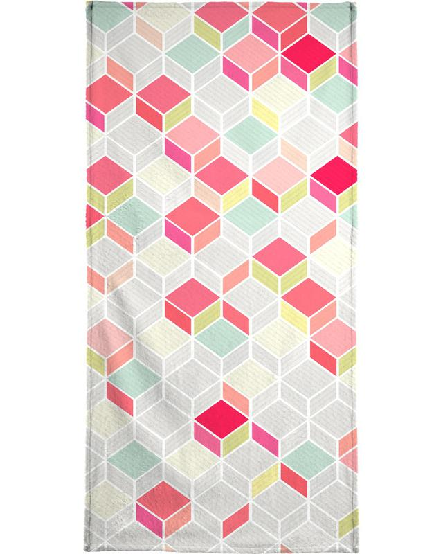 Cube Pink Strandtuch | Bad > Handtücher > Saunatücher | Mehrfarbig