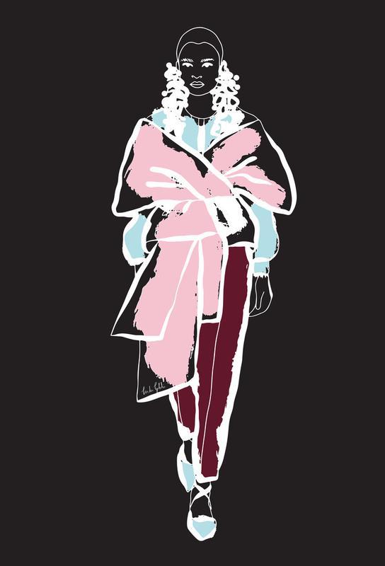 Fashion Girl Alu Dibond Druck | Dekoration > Bilder und Rahmen > Poster | Mehrfarbig | Aluminium