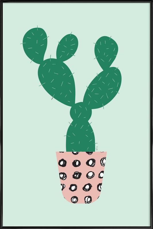Cactus -Bild mit Kunststoffrahmen
