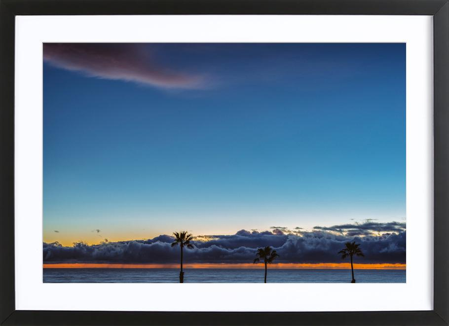 Double Horizon -Bild mit Holzrahmen