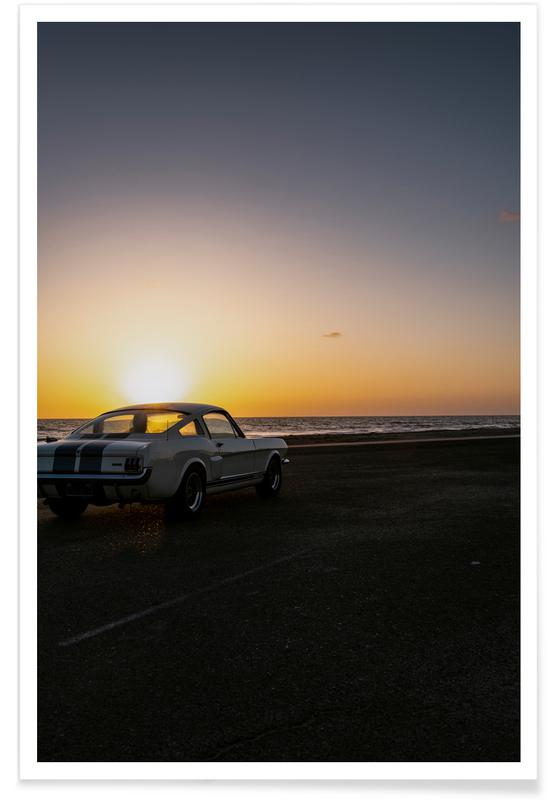 Sunset Mustang -Poster