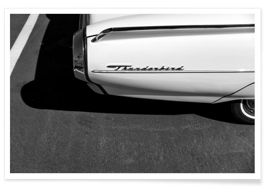 Monochrome Thunderbird Photograph Poster