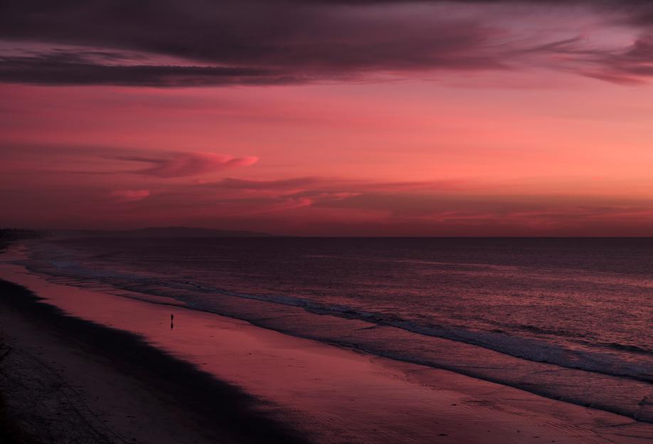 Sunset Walker alu dibond