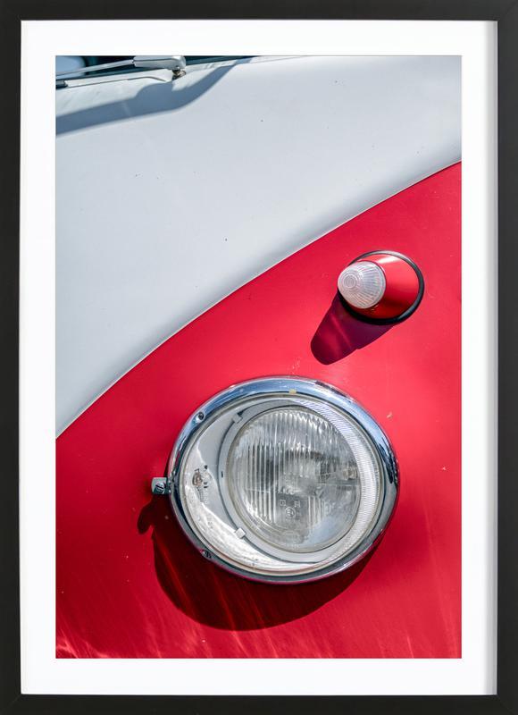 Volkswagen Two-Tone -Bild mit Holzrahmen