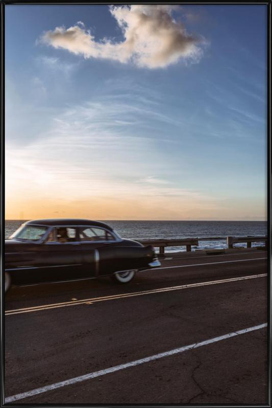 Cadillac Sunset Cruise II -Bild mit Kunststoffrahmen