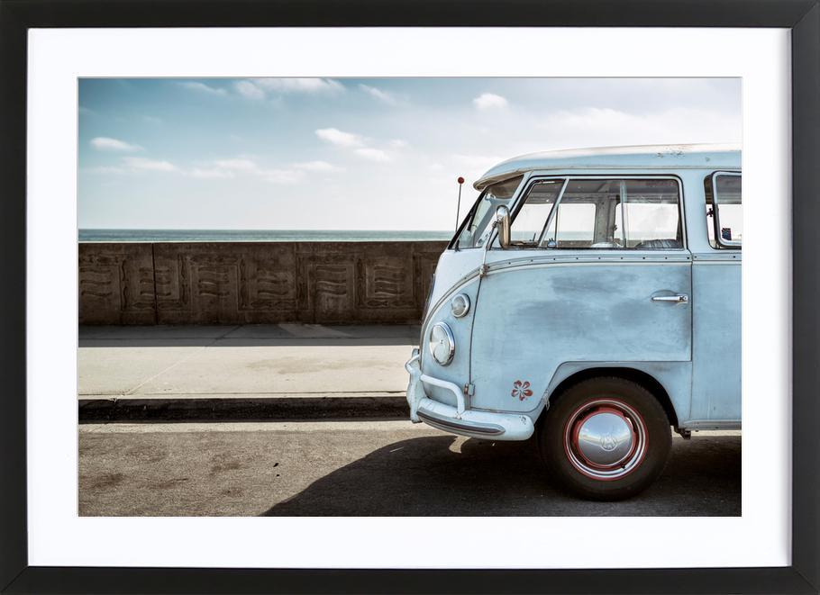 Wolfsburg Surf Blue Horizon Framed Print