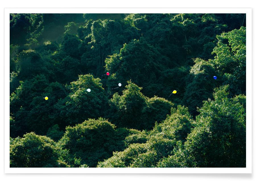 Balloons in the Jungle -Poster