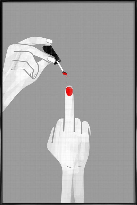 Nails Fuck Gerahmtes Poster